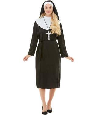 Kostým pre mníšku plusová veľkosť