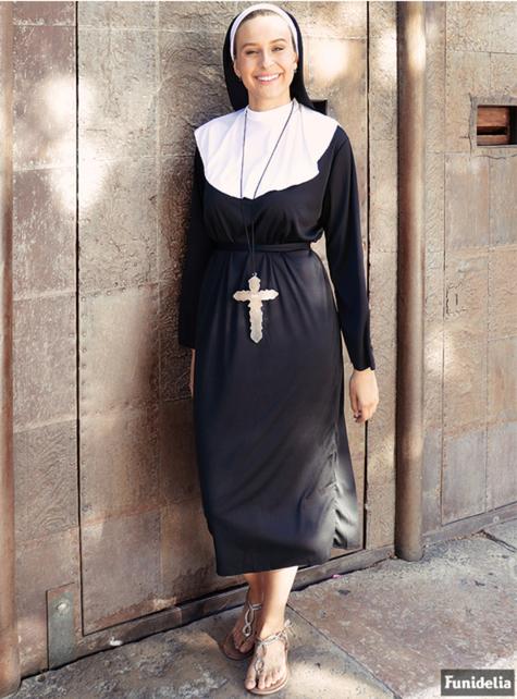 Fato de freira tamanho grande - mulher