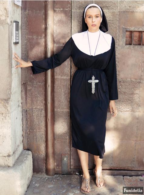 Nonne Kostüm große Größe - ausgefallen