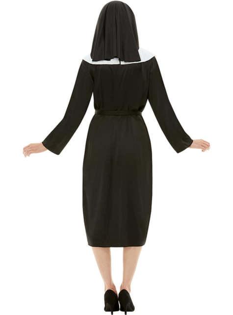 Fato de freira tamanho grande - Halloween