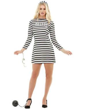 Väzenský kostým pre ženy plusová veľkosť