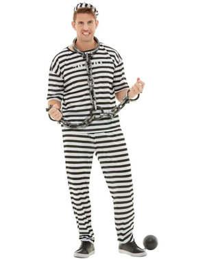 Затвореник костим Плус Сизе