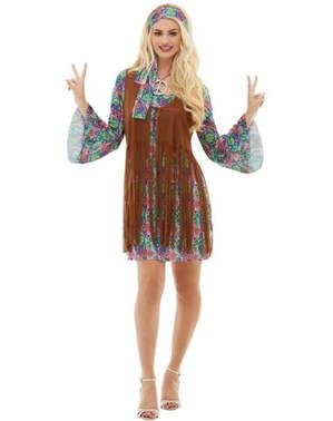 Hippie Maskeraddräkt Plus Size