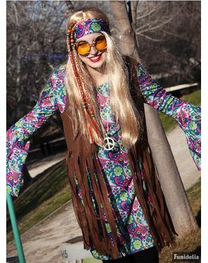 Grote maat Hippie kostuum voor vrouw