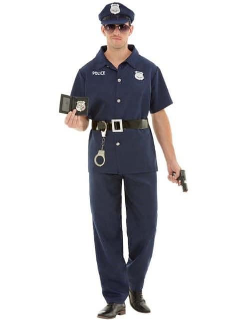 Strój policjanta dla mężczyzn duży rozmiar