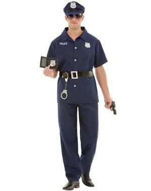 Grote maat Politieagent kostuum voor mannen