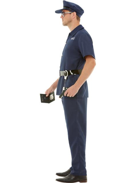 Disfraz de policía talla grande