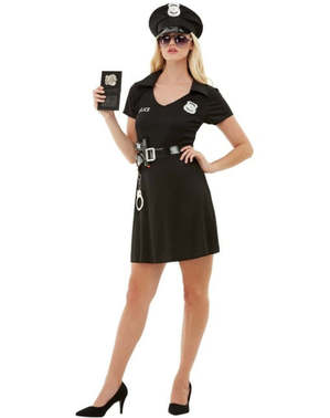 Női rendőr jelmez pluszos méret