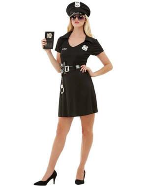 Politi plus size kostyme til Dame