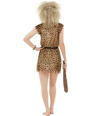 Grote maat Holbewoonster kostuum voor vrouw