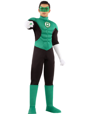 Green lantern costume for men