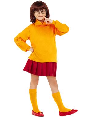 Kostým Velma pre dievčatá - Scooby Doo