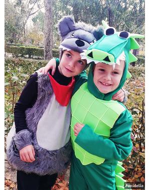 Fato de crocodilo do charco infantil