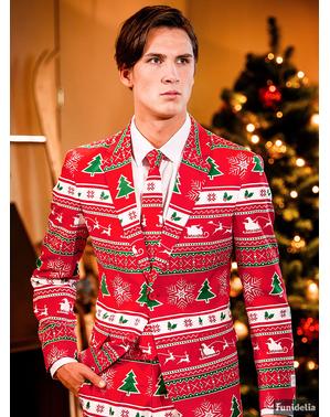 Червоний різдвяний костюм