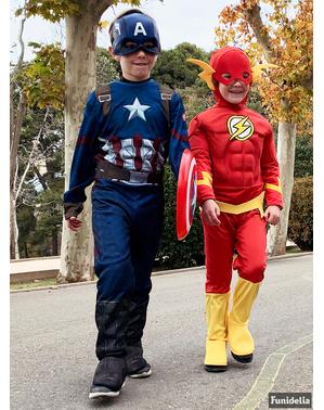 Costum Căpitanul America Civil War deluxe pentru băiat