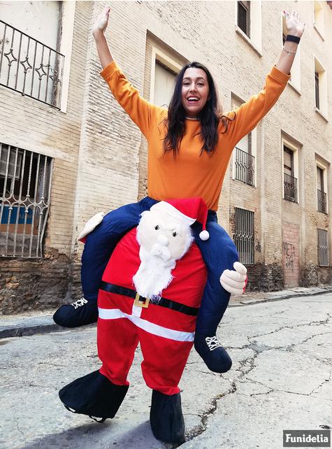 Disfraz a hombros de Papá Noel para adulto