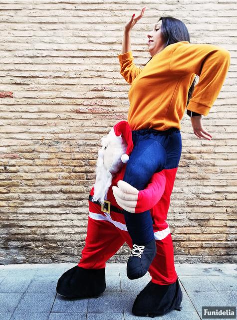 Déguisement Porte-moi Père Noël adulte