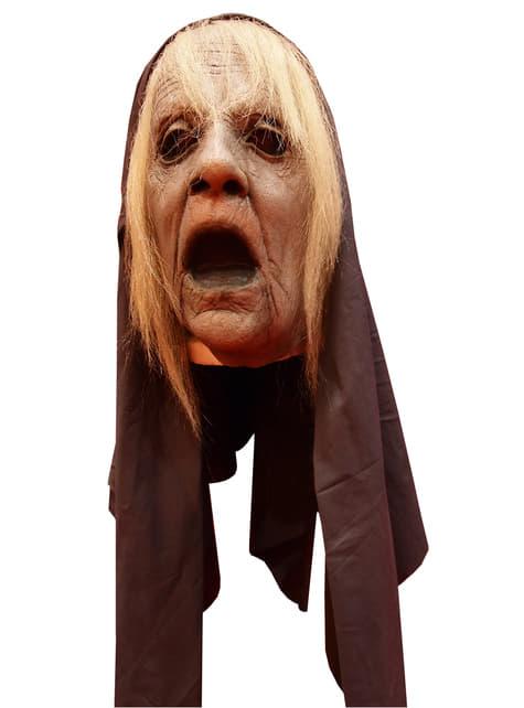Máscara de abuela fantasma terrorífica para adulto