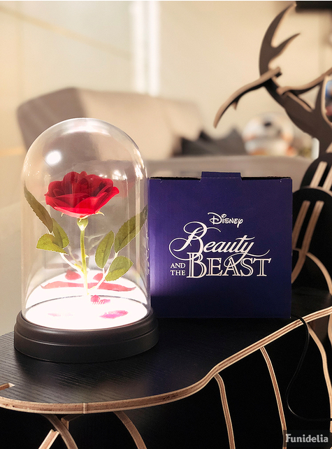 Belle en het Beest: Een Betoverend Kerstfeest Rozenlamp