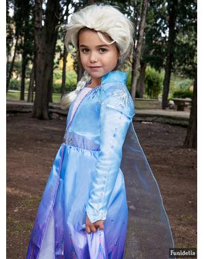 Peluca de Elsa Frozen 2 para niña