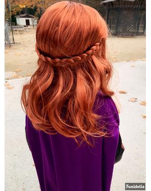Peruca de Anna Frozen para menina - Frozen 2