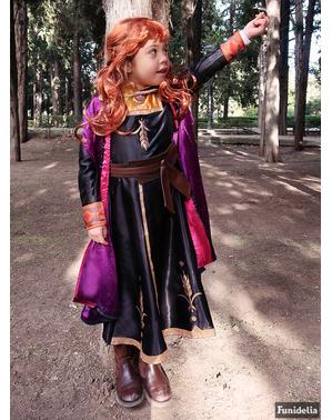Costum Printesa Anna deluxe pentru fată – Regatul de gheață 2 (Frozen)