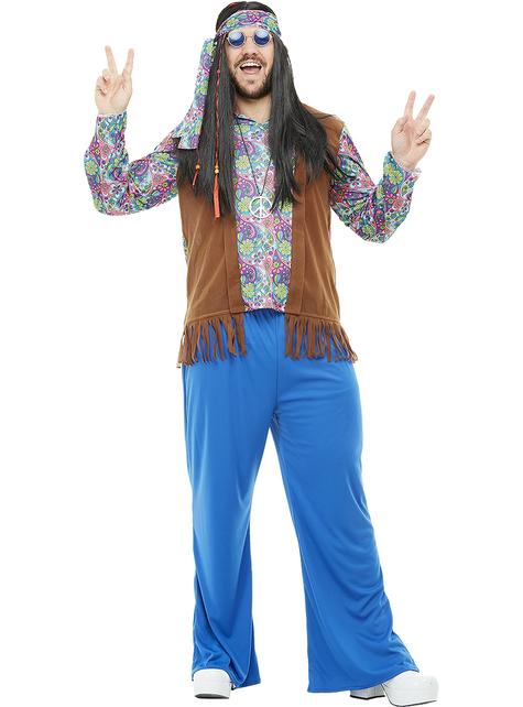 S M L XL XXL Partnerkostüm Hippie Kostüm 60er 70er Jahre Damen oder Herren Gr