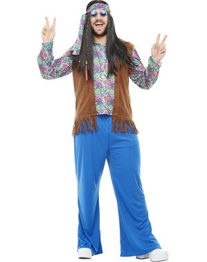 Grote maat Hippie kostuum voor mannen
