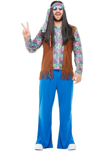 Disfraz de hippie talla grande