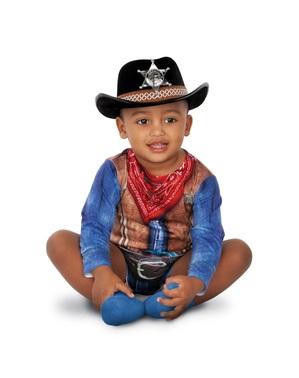 Fato de cowboy valente para bebé