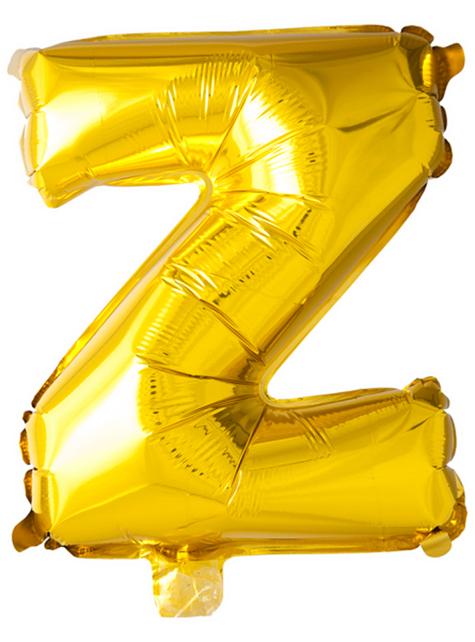 Ballon lettre Z doré (102 cm)