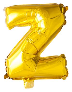 Globo foil letra Z dorado (102 cm)