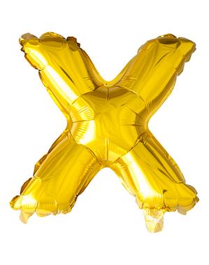 Globo foil letra X dorado (102 cm)