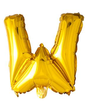 Globo foil letra W dorado (102 cm)