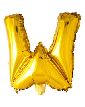 Gold Letter W Balloon (102 cm)