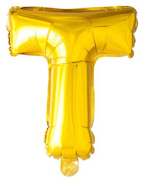 Gold Letter T Balloon (102 cm)
