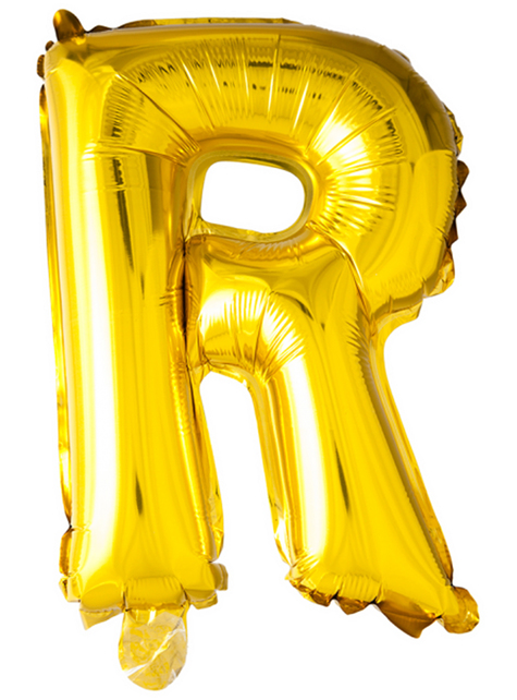 Globo foil letra R dorado (102 cm)