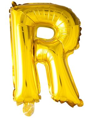 Gold Letter R Balloon (102 cm)