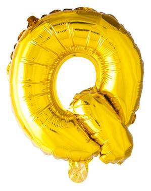 Globo foil letra Q dorado (102 cm)