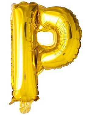Globo foil letra P dorado (102 cm)