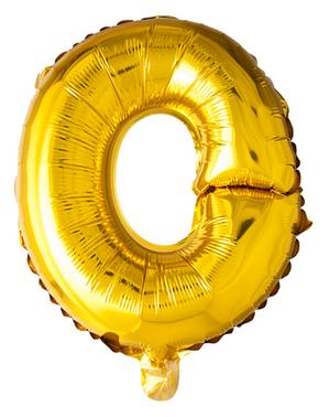 Globo foil letra O dorado (102 cm)