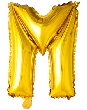 Gold Letter M Balloon (102 cm)