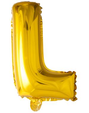 Balon złoty literka L (102 cm)