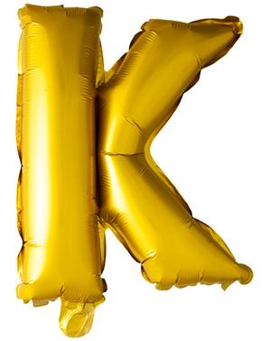 Globo foil letra K dorado (102 cm)