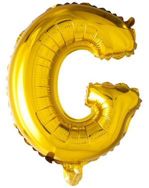 Globo foil letra G dorado (102 cm)