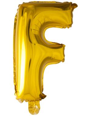 Globo foil letra F dorado (102 cm)
