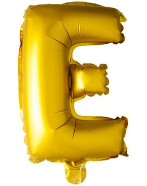 Kultainen kirjain E ilmapallo (102 cm)