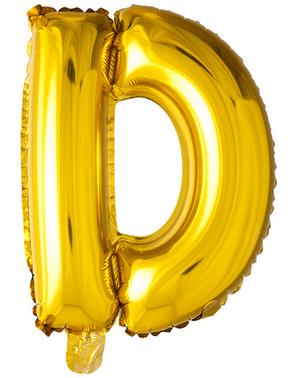 Kultainen kirjain D ilmapallo (102 cm)