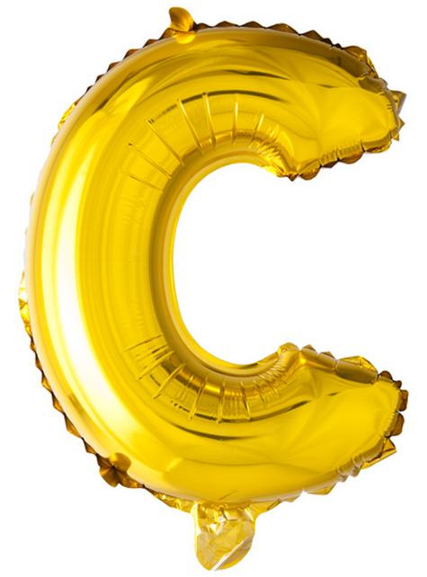 Globo foil letra C dorado (102 cm)