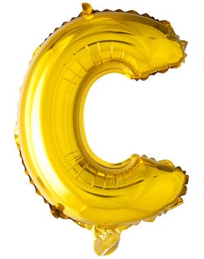 Kultainen kirjain C ilmapallo (102 cm)
